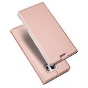 DUX DUCIS Skin Pro Series Θήκη Πορτοφόλι με Βάση Στήριξης για Samsung Galaxy S7 edge G935 - Ροζέ Χρυσαφί