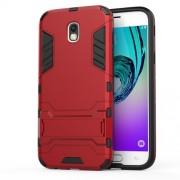 Cool Guard Kickstand PC TPU Mobile Phone Case for Samsung Galaxy J5 (2017) EU Version - Red