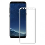MOCOLO Full Coverage Silk Print Tempered Glass Screen Guard Film for Samsung Galaxy S8 Plus G955 - White