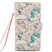 For Samsung Galaxy A6 Plus (2018) / A9 Star Lite Pattern Printing Leather Wallet Cover - Unicorn
