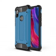 Armor Guard Plastic + TPU Hybrid Cellphone Cover for Xiaomi Redmi Note 6 - Baby Blue