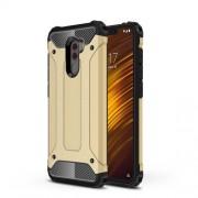 Armor Guard Plastic + TPU Hybrid Cellphone Cover for Xiaomi Pocophone F1/Poco F1 (India) - Gold