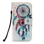 Pattern Printing PU Leather Wallet Phone Case for Xiaomi Pocophone F1 / Poco F1 (India) - Red Dream Catcher