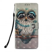 Pattern Printing PU Leather Wallet Mobile Case for Xiaomi Pocophone F1 / Poco F1 (India) - Owl