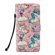 Pattern Printing PU Leather Wallet Mobile Shell Case for Xiaomi Pocophone F1 / Poco F1 (India) - Unicorns