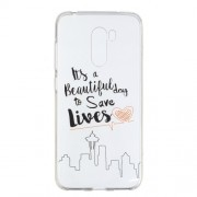 Pattern Printing Soft TPU Case Cover for Xiaomi Pocophone F1 / Poco F1 (India) - Life Quote