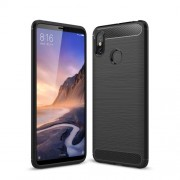Carbon Fibre Brushed TPU Case for Xiaomi Mi Max 3 - Black