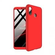 GKK 360 μοιρών Σκληρή Θήκη Ματ με Βελούδινη Υφή Πρόσοψης και Πλάτης για Xiaomi Mi Max 3 - Κόκκινο