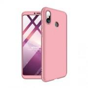 GKK 360 μοιρών Σκληρή Θήκη Ματ με Βελούδινη Υφή Πρόσοψης και Πλάτης για Xiaomi Mi Max 3 - Ροζέ Χρυσαφί
