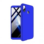 GKK 360 μοιρών Σκληρή Θήκη Ματ με Βελούδινη Υφή Πρόσοψης και Πλάτης για Xiaomi Mi Max 3 - Μπλε