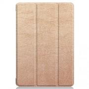Δερμάτινη Θήκη Βιβλίο Tri-Fold με Βάση Στήριξης Huawei MediaPad T5 10 - Ροζέ Χρυσαφί