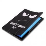 Δερμάτινη Θήκη Βιβλίο Tri-Fold με Βάση Στήριξης Huawei MediaPad T5 10 - Χαριτωμένη Θυμωμένη Φατσούλα