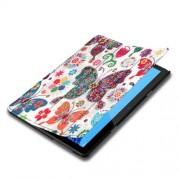 Δερμάτινη Θήκη Βιβλίο Tri-Fold με Βάση Στήριξης Huawei MediaPad T5 10 - Πολύχρωμες Πεταλούδες