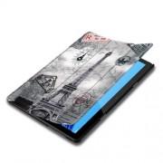 Δερμάτινη Θήκη Βιβλίο Tri-Fold με Βάση Στήριξης Huawei MediaPad T5 10 - Πύργος του Άιφελ