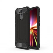 Armor Guard Plastic + TPU Hybrid Cell Phone Case for Huawei Mate 20 Lite - Black