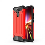 Armor Guard Plastic + TPU Hybrid Mobile Casing for Huawei Mate 20 Lite - Red