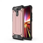 Tough Armor Υβριδική Θήκη Σιλικόνης TPU σε Συνδυαμό με Πλαστικό για Huawei Mate 20 Lite - Ροζέ Χρυσαφί