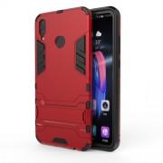 Υβριδική Θήκη Σιλικόνης TPU σε Συνδυαμό με Πλαστικό και με Βάση Στήριξης για Huawei Honor 8X - Κόκκινο