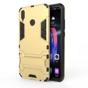 Υβριδική Θήκη Σιλικόνης TPU σε Συνδυαμό με Πλαστικό και με Βάση Στήριξης για Huawei Honor 8X - Χρυσαφί