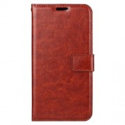 Crazy Horse Cell Phone Leather Wallet Case for Huawei Y6 (2018) / Honor 7A (without Fingerprint Sensor) - Brown