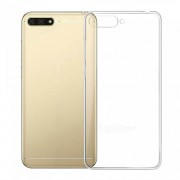 Drop-resistant Clear TPU Cover for Huawei Y6 (2018) / Huawei Honor 7A (with Fingerprint Sensor)