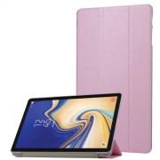Δερμάτινη Θήκη Βιβλίο Tri-Fold με Βάση Στήριξης με Διάφανη Πλάτη για Samsung Galaxy Tab S4 10.5 T830/T835 - Ροζ