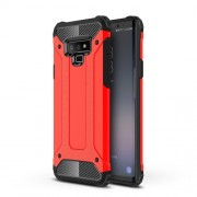 Armor Guard Plastic + TPU Hybrid Cell Phone Case for Samsung Galaxy Note 9 - Red