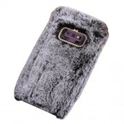 Rhinestone Soft Fur Coated TPU Protection Mobile Phone Shell for Samsung Galaxy Note9 N960 - Grey