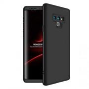 GKK 360 μοιρών Σκληρή Θήκη Ματ με Βελούδινη Υφή Πρόσοψης και Πλάτης για Samsung Galaxy Note 9 SM-N960 - Μαύρο