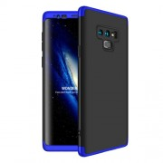 GKK 360 μοιρών Σκληρή Θήκη Ματ με Βελούδινη Υφή Πρόσοψης και Πλάτης για Samsung Galaxy Note 9 SM-N960 - Μαύρο/Μπλε