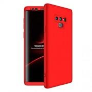 GKK 360 μοιρών Σκληρή Θήκη Ματ με Βελούδινη Υφή Πρόσοψης και Πλάτης για Samsung Galaxy Note 9 SM-N960 - Κόκκινο