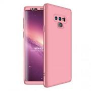 GKK 360 μοιρών Σκληρή Θήκη Ματ με Βελούδινη Υφή Πρόσοψης και Πλάτης για Samsung Galaxy Note 9 SM-N960 - Ροζέ Χρυσαφί