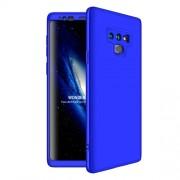 GKK 360 μοιρών Σκληρή Θήκη Ματ με Βελούδινη Υφή Πρόσοψης και Πλάτης για Samsung Galaxy Note 9 SM-N960 - Μπλε