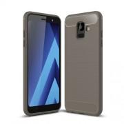 Θήκη Σιλικόνης TPU Carbon Fiber Brushed για Samsung Galaxy A6 (2018) - Γκρι