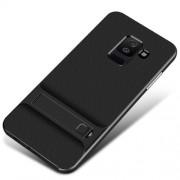 ELEGANCE Υβριδική Θήκη Σιλικόνης TPU σε Συνδυαμό με Πλαστικό και με Βάση Στήριξης για Samsung Galaxy A6 (2018) - Μαύρο