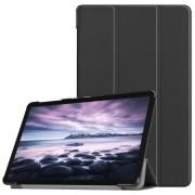 Δερμάτινη Θήκη Βιβλίο Tri-Fold Smart Cover με Βάση Στήριξης για Samsung Galaxy Tab A 10.5 (2018) T590 T595 - Μαύρο