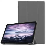Δερμάτινη Θήκη Βιβλίο Tri-Fold Smart Cover με Βάση Στήριξης για Samsung Galaxy Tab A 10.5 (2018) T590 T595 - Γκρι