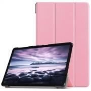 Δερμάτινη Θήκη Βιβλίο Tri-Fold Smart Cover με Βάση Στήριξης για Samsung Galaxy Tab A 10.5 (2018) T590 T595 - Ροζ