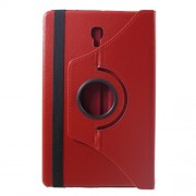 Περιστρεφόμενη Δερμάτινη Θήκη Βιβλίο με Βάση Στήριξης για Samsung Galaxy Tab A 10.5 (2018) T590 T595 - Κόκκινο