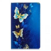 Pattern Printing PU Leather Flip Case for Samsung Galaxy Tab A 10.5 (2018) T590 T595 - Elegant Butterflies