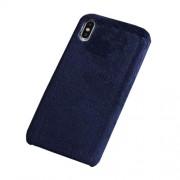 Μαλακή Γούνινη Θήκη Πλάτης για iPhone Xs Max - Σκούρο Μπλε