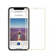 MOFI 9H Anti-burst 2.5D Arc Edge Full Size Tempered Glass Protective Screen Film for iPhone XR 6.1 inch - Gold