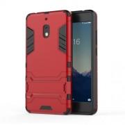 Υβριδική Θήκη Σιλικόνης TPU σε Συνδυαμό με Πλαστικό και με Βάση Στήριξης για Nokia 2.1 - Κόκκινο