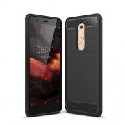 Carbon Fibre Brushed TPU Case for Nokia 5.1 - Black