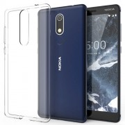 Clear Soft TPU Mobile Phone Cases with Non-slip Inner for Nokia 5.1