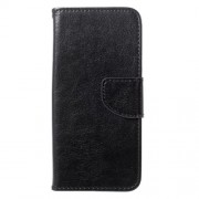 Crazy Horse Leather Wallet Case for Samsung Galaxy S8 Plus - Black