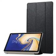 Δερμάτινη Θήκη Βιβλίο Tri-Fold με Βάση Στήριξης με Διάφανη Πλάτη για Samsung Galaxy Tab S4 10.5 T830/T835 - Μαύρο