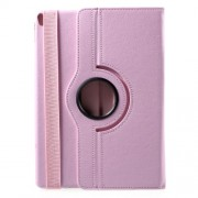 Litchi Grain 360 Rotation Stand Leather Protective Case for iPad Pro 10.5-inch (2017) - Pink