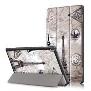 Δερμάτινη Θήκη Βιβλίο Tri-Fold με Βάση Στήριξης για Lenovo Tab 4 10 (TB-X304F,N) - Πύργος του Άιφελ