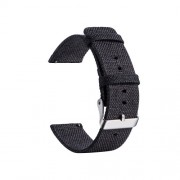 Classic Buckle Canvas Watch Strap for Huami Amazfit Watch Youth Edition - Black